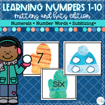 Winter Mittens Number Recognition Activities