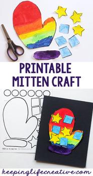 Winter Mitten Printable Craftivity Template