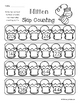 Winter Mitten: Skip Counting by 2's - Card Sort Center and