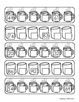 Winter Hot Cocoa: Skip Counting by 3's Differentiated Worksheets
