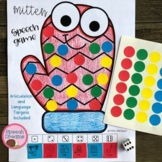 Winter Mitten Speech Therapy Sticker Dice Game craft (articulation language)