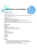 Winter Mitten and Snowflake Printmaking Lesson Plan