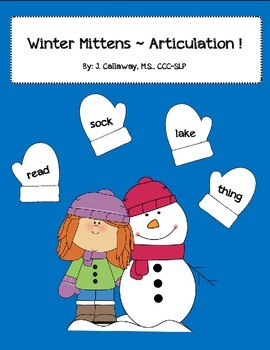 Winter Mittens ~ Articulation!