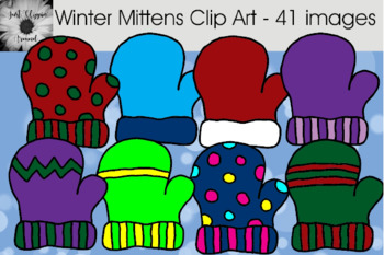 Winter Mittens Clip Art - 41 Images