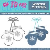 Winter Mittens Clipart Single | Digital Use Ok!