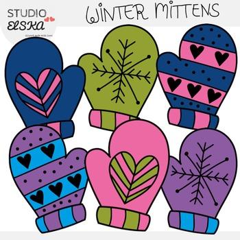 Winter Mittens Clipart (Studio Elska)