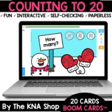 Winter Mittens Counting to 20 Boom Cards Distance Learning