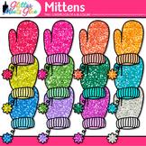 Rainbow Mitten Clip Art | Great for Winter Activities & Digital Scrapbooking