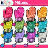 Rainbow Mitten Clip Art {Great for Winter Activities & Dig