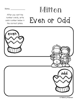 Winter Mittens: Even or Odd Sort