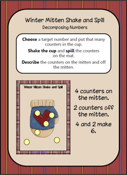 Winter Mittens Shake and Spill: Composing and Decomposing Numbers