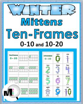 Ten Frames Matching - Winter - Numbers 1-20