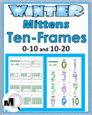 Ten Frame Number Cards Matching - Winter Theme - Numbers 1-20