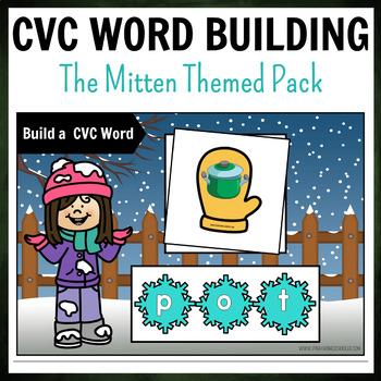 Winter Mittens Themed CVC Word Building Pack