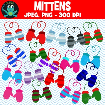 Winter Mittens {Upzaz Digital Clipart}