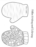 Winter Mittens Writing and Coloring