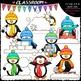 Winter Mix Clip Art & B&W Bundle (10 Sets)