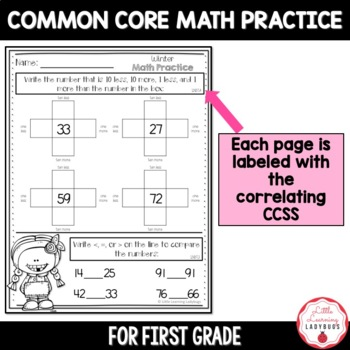 Winter Mixed Math Practice {CCSS Aligned Printables}