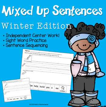 Winter Mixed-Up Sentences Pack