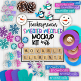 Winter Mockups | Teacherpreneur Mockup | Create Your Own M