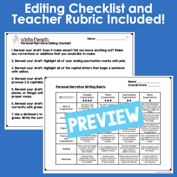 Winter Personal Narrative Writing Project