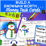 Money Task Card Center - Build a Snowman Worth...
