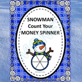Winter Snowman Spinner (Counting Money Activities)