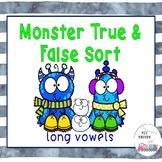 Winter Monster True & False Long Vowel Sort
