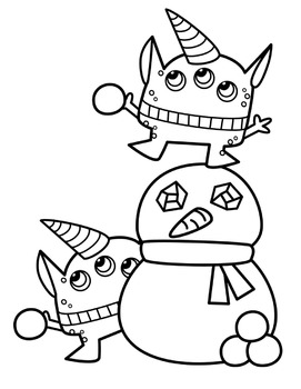 Winter Monsters Clipart