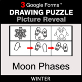 Winter: Moon Phases - Drawing Puzzle   Google Forms