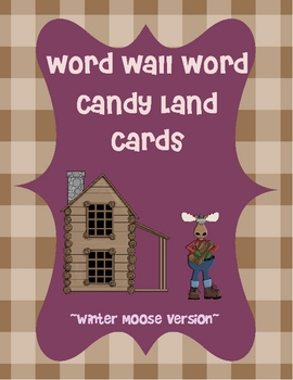 Winter Moose Candy Land Word Cards