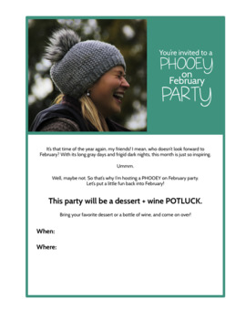 Winter Morale Booster: Phooey on February Potluck Party Packet