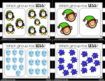 Winter More & Less Task Cards