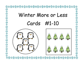 Winter More or Less Cards #1-10