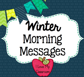 Winter Morning Messages {Community Building Prompts}