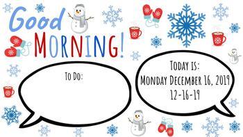 Winter Morning Slide