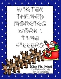 Winter Morning Work {Click File, Print}