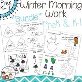 Winter Morning Work PreK & Kindergarten - 1st grade Bundle - No Prep