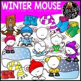 Winter Mouse Clip Art Set {Educlips Clipart}
