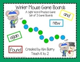 Game Boards - Dolch Sight Words Practice - Winter Mouse Edition