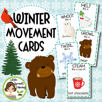 Winter Movement Cards (Transition Activity or Brain Breaks)