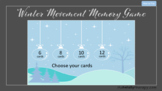 Winter Movement Memory Game