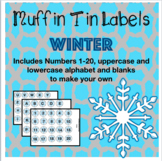 Winter Muffin Tin Labels