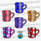 Winter Mugs Clip Art Set 1