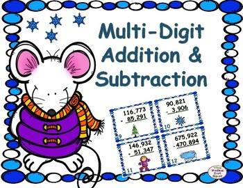 Winter Multi-Digit Addition & Subtraction Center