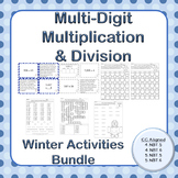Winter Multi-Digit Multiplication and Division Activities Bundle