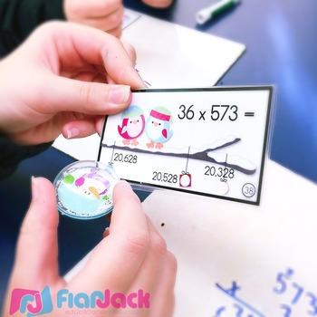 Winter Multiple Digit Multiplication Poke Cards