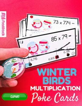 Winter Multiple Digit Multiplication Poke Cards