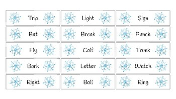 Winter Multiple Meaning Words