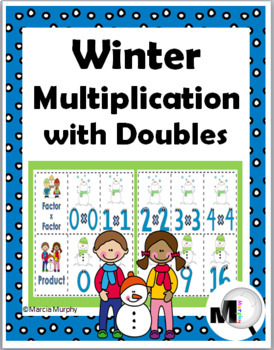Multiplication Facts with Doubles Matching - Winter Math -